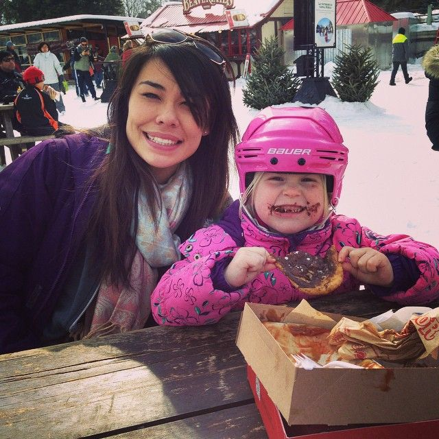 Skating on the Canal - check Matching helmet and jacket - check BeaverTails pastry for dessert - check Adorable chocolate smile - check This child is winning at life :) via @kels_xo_07 on IG