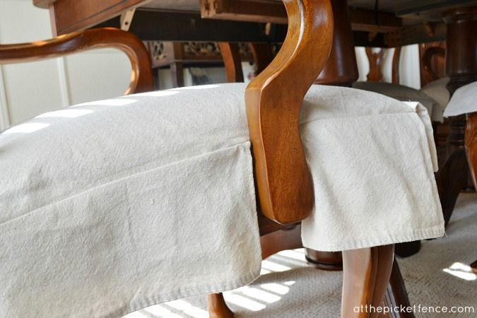 Drop Cloth Chair Skirts