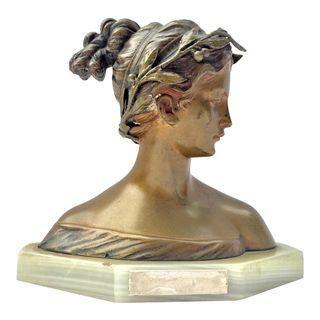 Bronze Italian Woman by Antonio Garella
