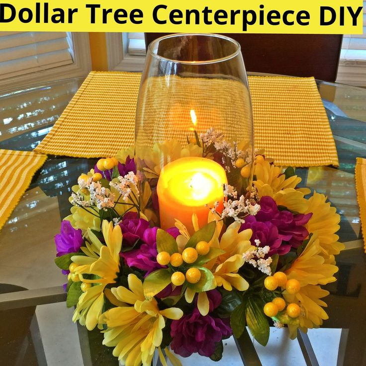 Dollar Tree centerpiece DIY - YouTube                                                                                                                                                                                 More