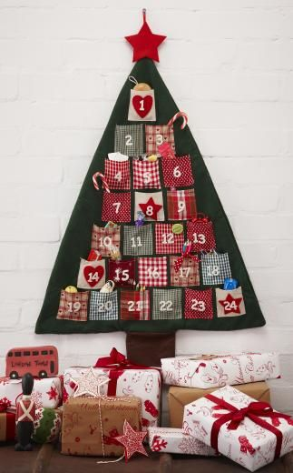 Felt Hanging Christmas Tree Advent Calendar