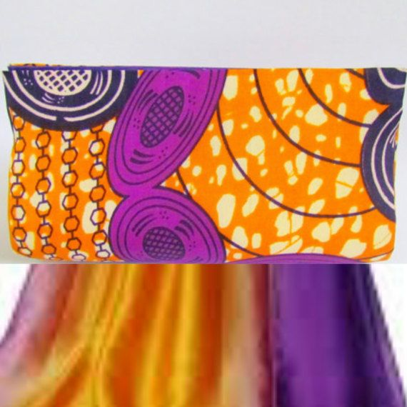Purple and Mustard African Print Bag African by ICreationsBoutique