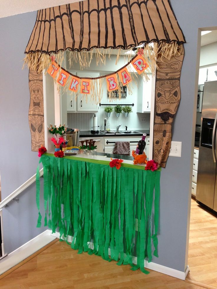 Our Hobby House: DIY Hawaiian Grass Skirt