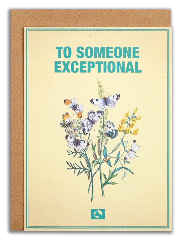 """To someone exceptional"". #messageearth #sustainable #greetingcards #sustainability #eco #design #ecodesign #vintage #cards #peculiar"