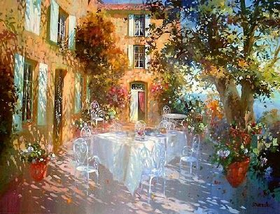 Laurent Parcelier French Artist. Terraces