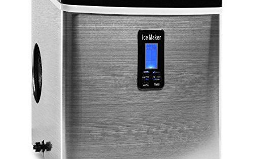 Klarstein Machine à glacons 150W, réservoir 3,3L pour jusqu'à 13kg de glacons/jour (certifiée TÜV-GS, châssis en acier, silencieuse) – Noir