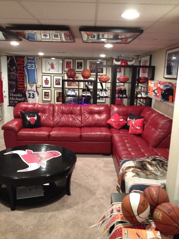 128 Best Man Caves Sports Themes Other Cool Ideas Images On Pinterest Man Caves Men Cave