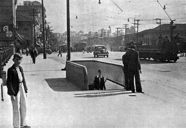 Passagem subterrânea da Avenida Rangel Pestana em 1939 (clique na foto para ampliar).