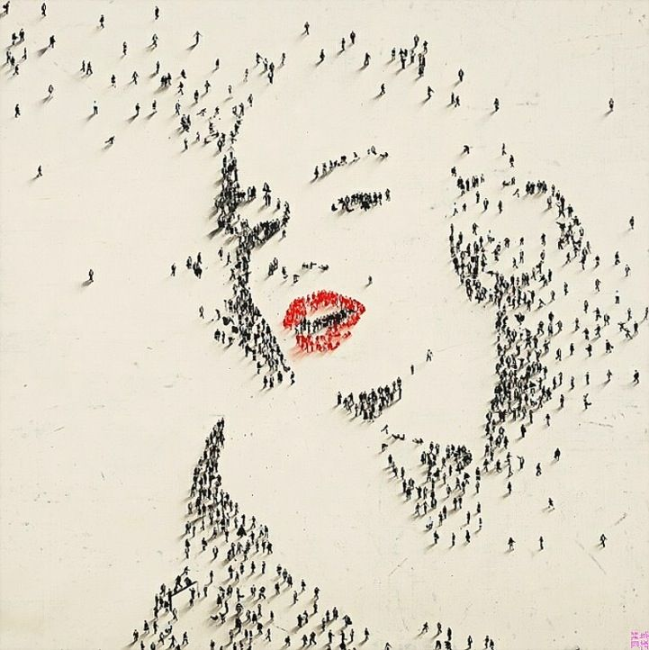Iconic Portraits Formed by Clusters of Tiny People - My Modern Metropolis