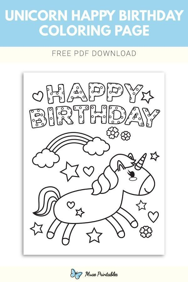 Happy Birthday Colouring Card Birthday Coloring Pages Coloring Birthday Cards Happy Birthday Coloring Pages