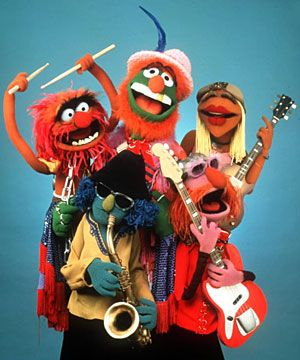 Dr. Teeth and the Electric Mayhem are the house band on The Muppet Show.
