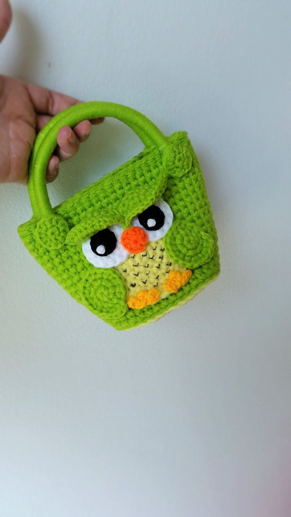 Owl handmade crochet bag  Birthday gift Christmas by Solutions2511 / FINISHED PRODUCT for sale / soooo cute!