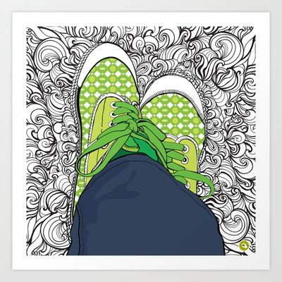 Just Chillin' Art Print by Sketchbook Designs - $20.00  #illustration #lineart