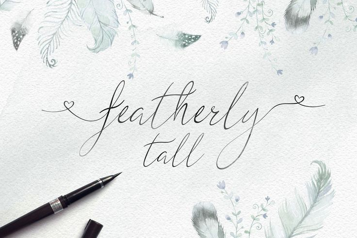 Featherly Tall // Font Bundle // by Joanne Marie // Creative Market // This bundle contains different font styles from calligraphy to brush lettering to hand lettering plus more! Many of them have alternates and swashes, even some doodles thrown in there. #font #blog #script #ad