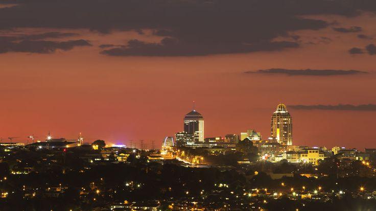 Sandton skyline, an affluent suburb of Johannesburg, Gauteng, South Africa.