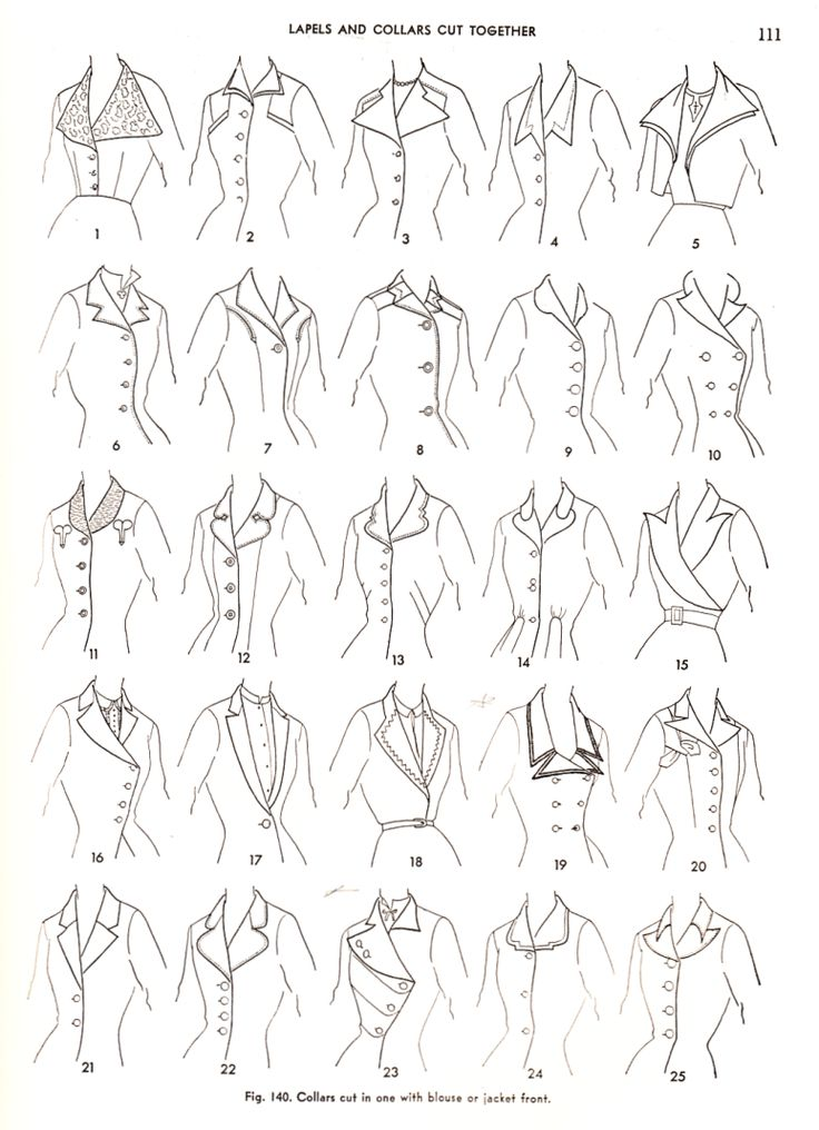 Love #23.          Lapels and Collars Cut Together - - from the book Practical Dress Design Mabel Erwin...