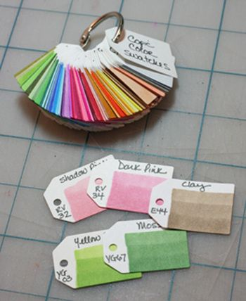 Make color swatches of Copic colors showing 1, 2 & 3 layers of the same color