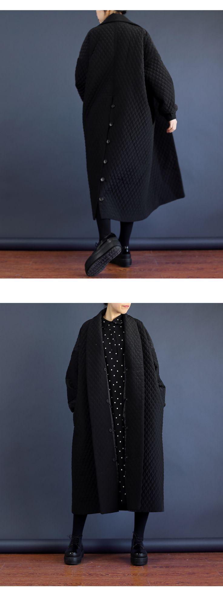 WM001 элегантная Мода негабаритных черный длинный макси толстая тренчкот женщины 2016 купить на AliExpress