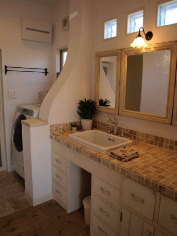 猫屋敷のWeb内覧会 *Part6*  [アンティークな三面鏡のある洗面所 (=^・^=) ] - Papa's room (=^・^=)