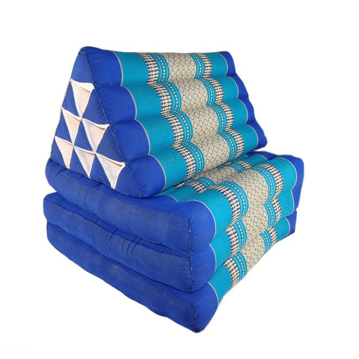Anyone who has been to Thailand will recognise the traditional three fold triangular cushion. They can be unfolded and used as a spare bed or lounger, or a leaning cushion on the floor. They are found almost everywhere you go in the country, and used as a bed, chair or lounger. | eBay!