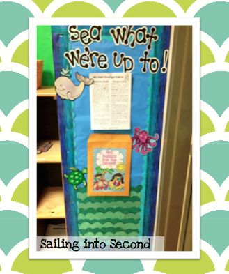 Ocean Themed Classroom - Sailing into Second. Parent communication board