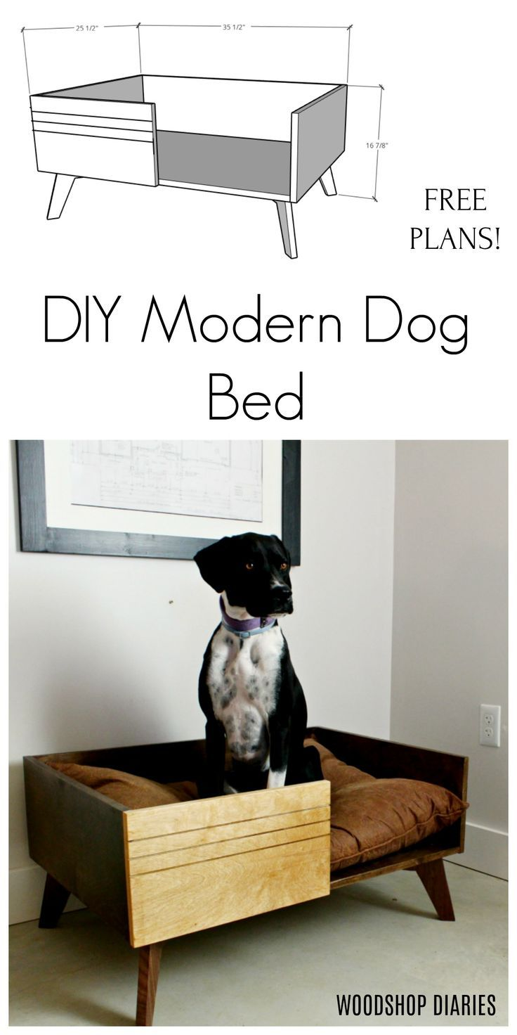 Diy Modern Dog Bed Free Plans And Video Tutorial In 2020 Dog Bed Modern Dog Bed Modern Diy