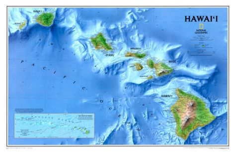National Geographic map of Hawaii