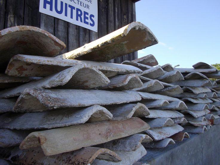Tuiles détroquées, village de l'Herbe, prsqu'île du Cap Ferret, Gironde, Aquitaine. | par byb64