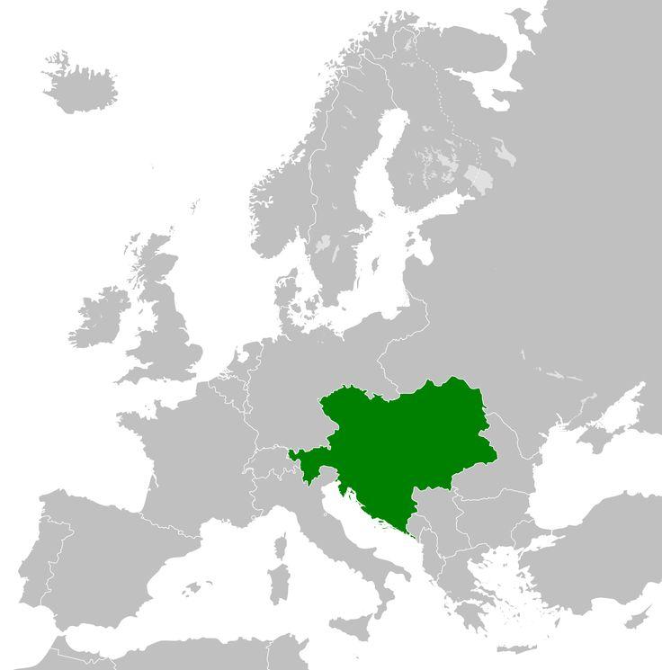 1914 empire austro hongrois map The