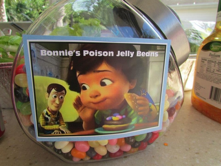 Toy Story food decor, Bonnie's poison jelly beans (toy story #3)