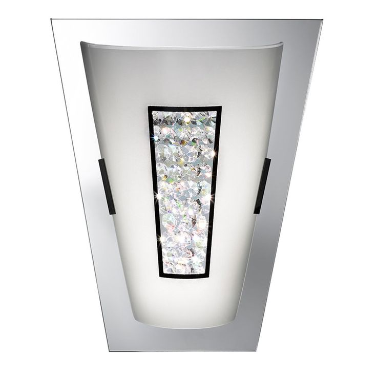 Searchlight 3773 8w LED Wall Light with Crystal Centre with Mirrored Glass