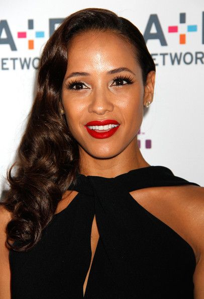 Dania Ramirez's Glamorous Side Part and Curls