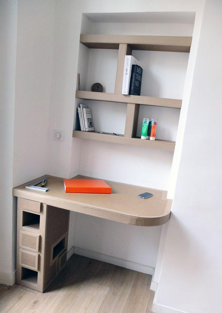 étagère et bureau en carton