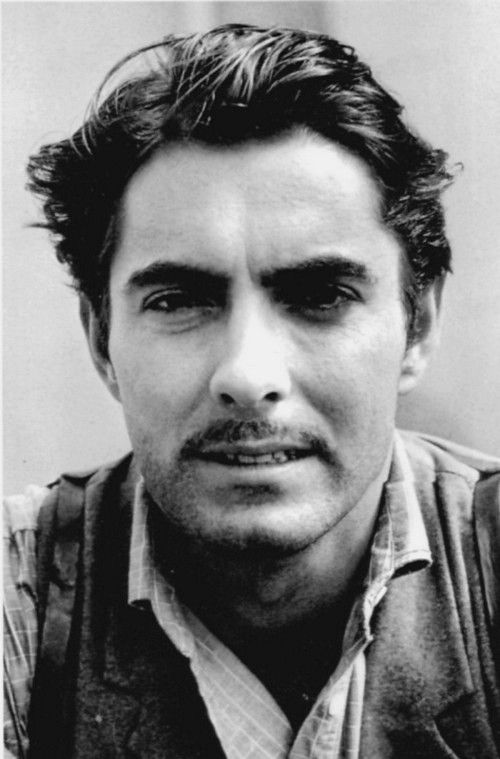 Tyrone Power (1914-1858) - American film and stage actor.  Photo by Alfred Eisenstaedt, 1939 on the set of Jesse James