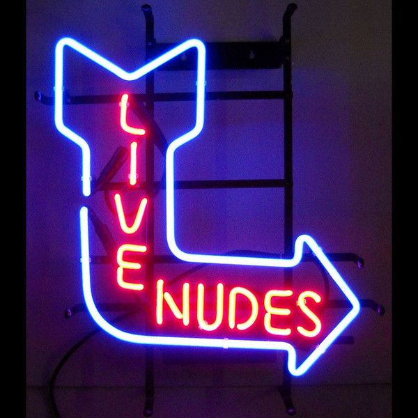 NEW LIVE NUDES NEON SIGN REAL GLASS TUBE BEER BAR PUB Neon Light Signs store display