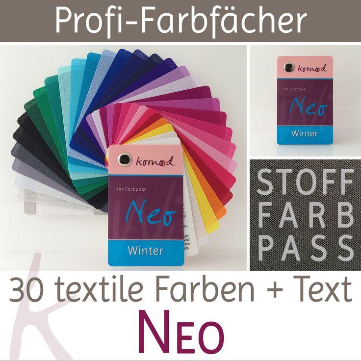 Stoff-Farbfächer / Farbpass Winter mit 30 Farben - Neo
