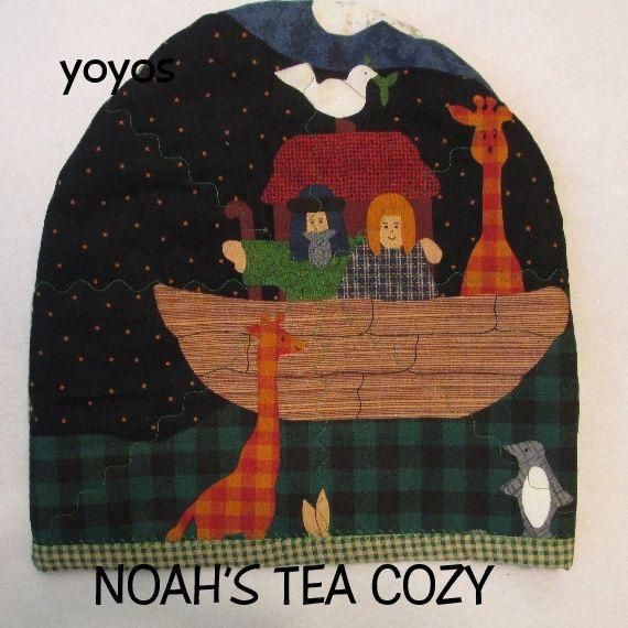 TEA COZY and MAT Set Noah's Ark Theme Table Décor Gift