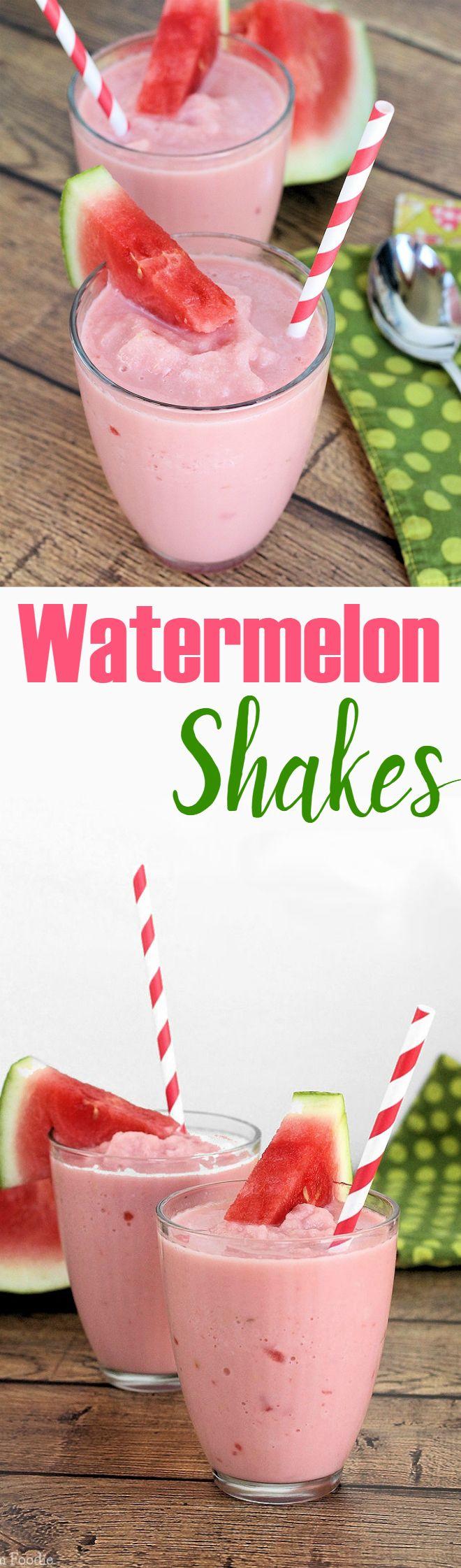 Watermelon Milk Shakes (non-dairy, vegan)