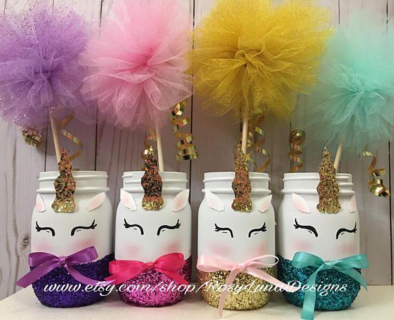 giggling unicorn mason jar set unicorn birthday party