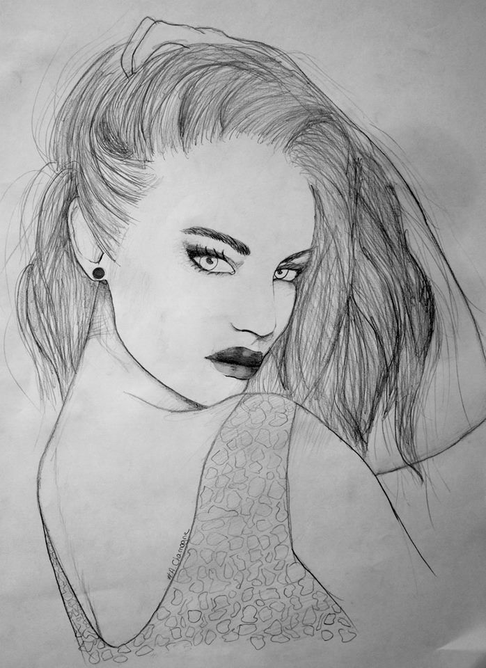 Passion Of Drawing  Dessin de femme retournée