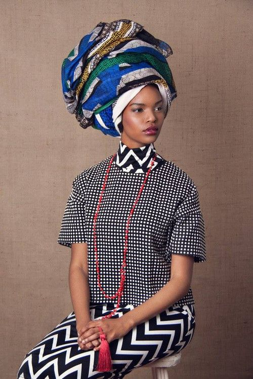 "The photo shoot ""The Head Dress"" by South African photographer Lauren Fletcher is just that – stunning! Model Aphelele-Mbiyo looks so regal on these pictures. I read on Lauren's website that the inspiration for this shoot was ""Clan"" and she decided to give this concept an African twist. All the different mixes of fabrics and…"
