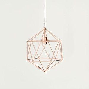 Shiraleah Geometric Gil Copper Pendant Lamp