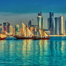 Doha, Qatar. My boyfriend is currently on a 17 hr plant flight here for the US Air Force. Wealthiest and most beautiful place one Earth, wow.