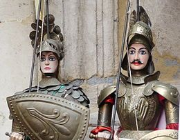 I Pupi Siciliani (Sicilian Puppets) included in the World Heritage List by UNESCO. #sicily #folklore #art