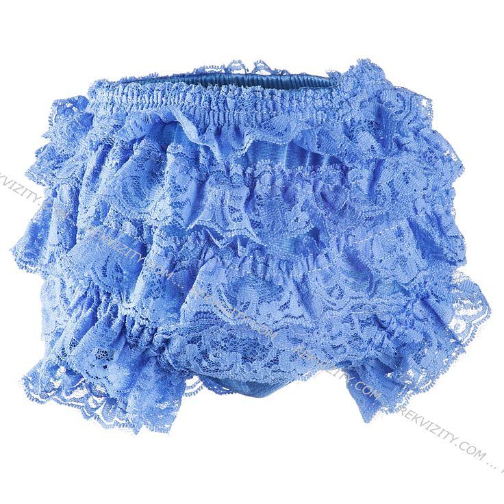 Kalhotky krajkové, modrá