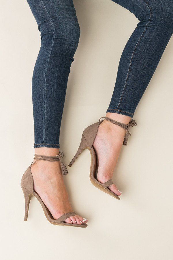 Wrapped Up Heels in Taupe   ShopDressUp.com
