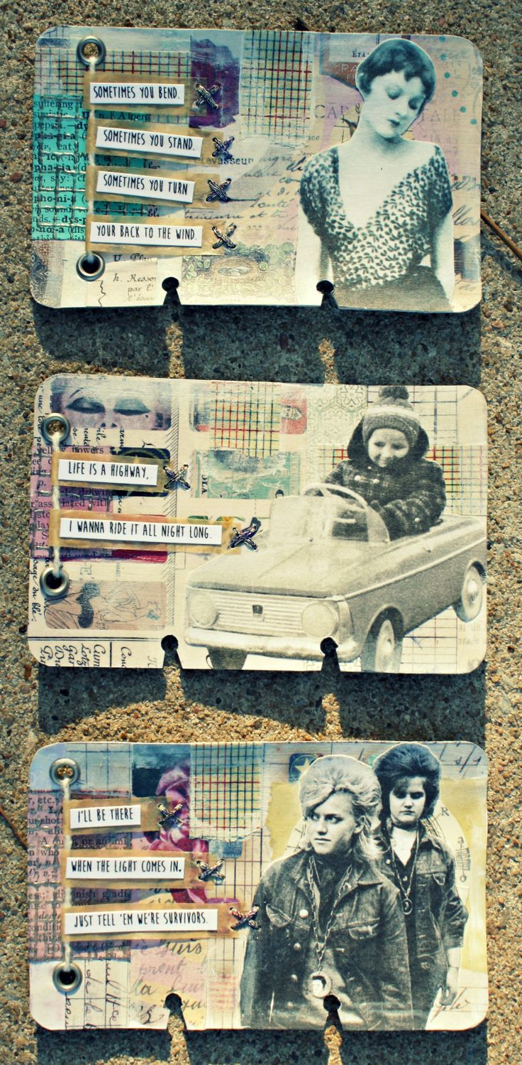 Rolodex Art Journal: Life Is A Highway Series