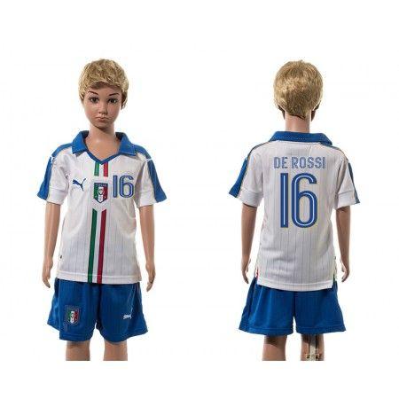 Italien Trøje Børn 2016 #De Rossi 16 Udebanetrøje Kort ærmer.199,62KR.shirtshopservice@gmail.com