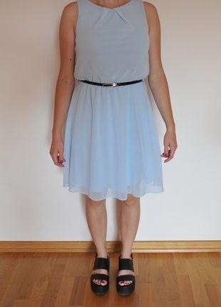 Kup mój przedmiot na #vintedpl http://www.vinted.pl/damska-odziez/sukienki-wieczorowe/9962443-blekitna-sukienka-z-paskiem