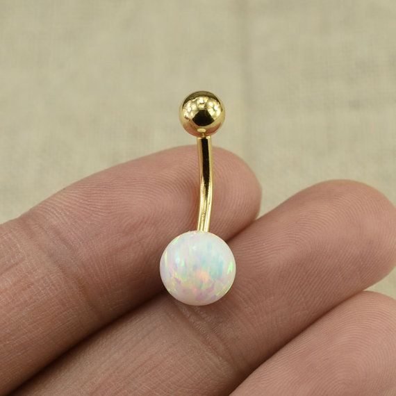 bellybutton ring opal belly ring fabulous by vickybodyjewelry